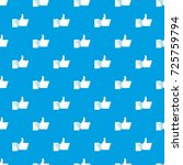 thumbs up pattern repeat... | Shutterstock .eps vector #725759794
