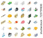firm icons set. isometric style ... | Shutterstock .eps vector #725759830