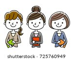 business  young ladies | Shutterstock .eps vector #725760949