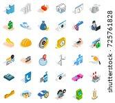 trust icons set. isometric...   Shutterstock .eps vector #725761828