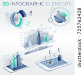 3d infographic elements | Shutterstock .eps vector #725762428