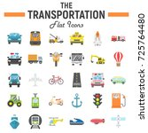 transportation flat icon set ...   Shutterstock .eps vector #725764480