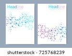 scientific brochure design... | Shutterstock .eps vector #725768239