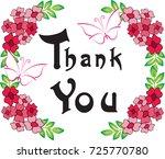 thank you card | Shutterstock .eps vector #725770780