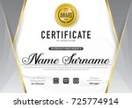 certificate template luxury and ... | Shutterstock .eps vector #725774914