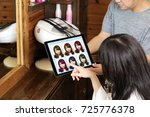hair color simulation system... | Shutterstock . vector #725776378
