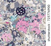 tracery seamless pattern.... | Shutterstock .eps vector #725776900