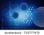 3d rendering virus bacteria... | Shutterstock . vector #725777470