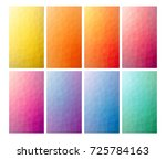 set of 8 low poly backgrounds... | Shutterstock .eps vector #725784163
