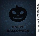 halloween vector background ... | Shutterstock .eps vector #725785054
