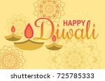 happy diwali with ornament of... | Shutterstock .eps vector #725785333