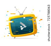 retro tv broadcasting concept... | Shutterstock .eps vector #725788063
