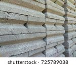 concrete bricks | Shutterstock . vector #725789038