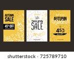 autumn sale background template.... | Shutterstock .eps vector #725789710