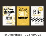 autumn sale background template.... | Shutterstock .eps vector #725789728