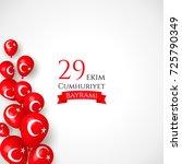 29 ekim cumhyriet bayrami  29... | Shutterstock .eps vector #725790349