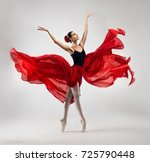 Ballerina. young graceful woman ...