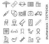 medical healthcare black thin... | Shutterstock .eps vector #725792434