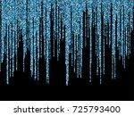 blue cyan glitter festoons ... | Shutterstock .eps vector #725793400