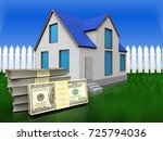 3d Illustration Of Home With...