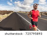 runner fit athlete man running... | Shutterstock . vector #725795893
