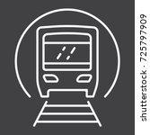 subway train line icon ...