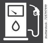 gas station glyph icon  petrol...
