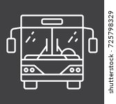 bus line icon  transport and... | Shutterstock .eps vector #725798329