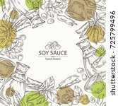 background with soy sauce  a...   Shutterstock .eps vector #725799496