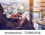 online banking payment... | Shutterstock . vector #725802418