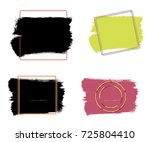 vector black paint  ink brush... | Shutterstock .eps vector #725804410
