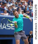 Small photo of NEW YORK - SEPTEMBER 9, 2017: US Open 2017 mixed doubles finalist Michael Venus of New Zealand in action during final match at Billie Jean King National Tennis Center in New York