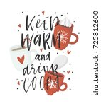 greeting card with quote and...   Shutterstock .eps vector #725812600