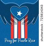 hurricane relief for puerto... | Shutterstock .eps vector #725814343