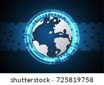 technology cyber abstract world ...   Shutterstock .eps vector #725819758