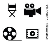 movie icon set | Shutterstock .eps vector #725820466