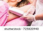 young woman having underarm... | Shutterstock . vector #725820940