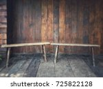 two simple designed wooden... | Shutterstock . vector #725822128