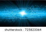 binary circuit board future... | Shutterstock .eps vector #725823364