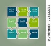 vector progress background.... | Shutterstock .eps vector #725823388