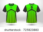 green and black layout football ... | Shutterstock .eps vector #725823883
