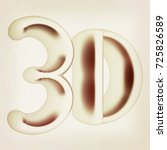 3d word. 3d illustration.... | Shutterstock . vector #725826589