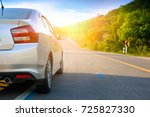 close up of new silver... | Shutterstock . vector #725827330