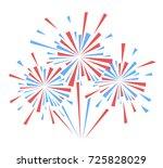 vector holiday firework.... | Shutterstock .eps vector #725828029