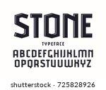 decorative sanserif font with... | Shutterstock .eps vector #725828926