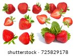 berry red strawberry  isolated... | Shutterstock . vector #725829178
