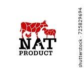 butcher vector logo. nat... | Shutterstock .eps vector #725829694