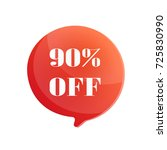 sale 90  off vector circle... | Shutterstock .eps vector #725830990