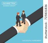 flat 3d isometric business... | Shutterstock .eps vector #725831836