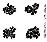 frangipani silhouette | Shutterstock .eps vector #725833756